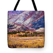 Fall Colours In Ogilvie Mountains Tote Bag