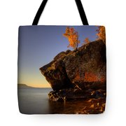 Fall Colours In The Squaw Bay Fallen Rock Tote Bag