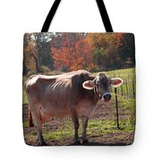 Fall Cow Tote Bag