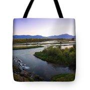 Fall Creek Panorama Tote Bag