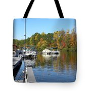Fall Fishing Break Tote Bag