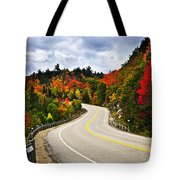 Fall Highway Tote Bag