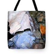 Fall Leaf Abstract Tote Bag
