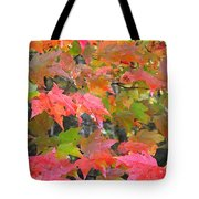 Fall Leaves Filtered Tote Bag