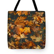 Fall Maple Leaves On Water Tote Bag