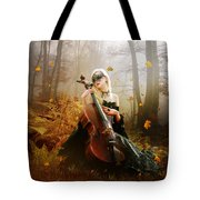 Fall Melody Tote Bag by Mary Hood