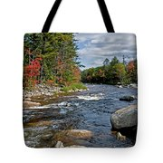 Fall On Swift River Tote Bag