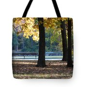Fall Park Bench 1 Tote Bag