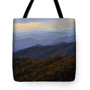Fall Sunset On The Blue Ridge Tote Bag