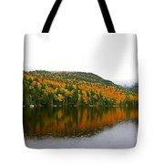 Fall View Of Saco Lake And Elephants Head Tote Bag