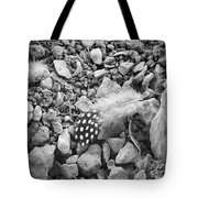 Fallen Feathers Black And White Tote Bag