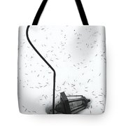 Fallen Lamplight In Snow Tote Bag