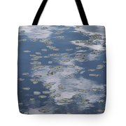 Fallen Leaves And Reflections Of Clouds Tote Bag