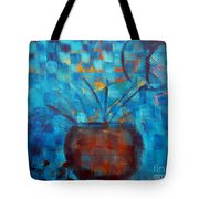 Falling Into Blue Tote Bag