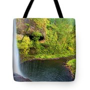 Falling Off The Cliff Tote Bag