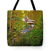 Falling Waters House Setting Tote Bag