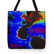 False-colour Satellite Images Tote Bag by Dr. Gene Feldman, NASA Goddard Space Flight Center