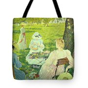 Family In The Orchard Tote Bag
