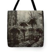 Family Walking Through A Forest Of Tree Tote Bag