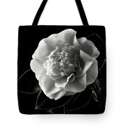 Fancy Camellia In Black And White Tote Bag