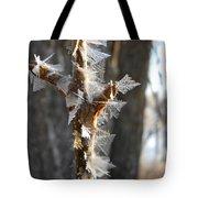 Fancy Fractal Frost Crystals Tote Bag