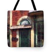 Fancy Green Door Burlington Nj Tote Bag