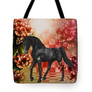 Fantasy Black Horse Tote Bag