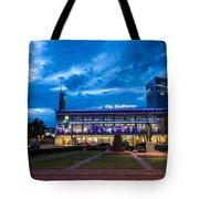 Fantasy Train Station Tote Bag
