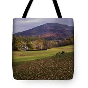 Farm By Ascutney Mountain Vermont Tote Bag