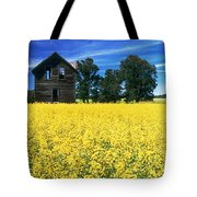 Farm House And Canola Field, Holland Tote Bag