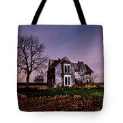 Farm House At Night Tote Bag