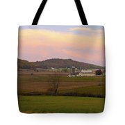 Farm Scene From Knoll On Rt. 41  Tote Bag