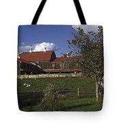 Farm Scene With Barn  Tote Bag