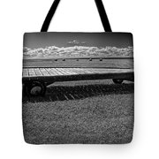 Farm Wagon In A Field On Prince Edward Island Tote Bag