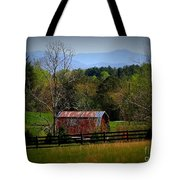 Farm With A View Tote Bag by Crystal Joy Photography