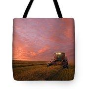 Farmer Harvesting Oat Crop Tote Bag