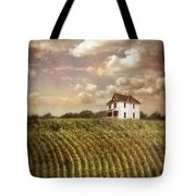 Farmhouse And Cornfield Tote Bag