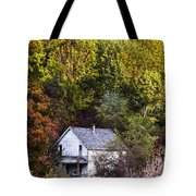 Farmhouse In Fall Tote Bag