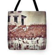 Farmhouse In Winter Tote Bag