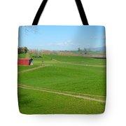 Farming Scene Tote Bag