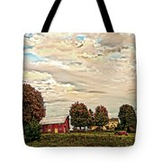 Farms From The Fifties Tote Bag
