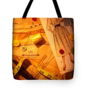 Fashion Old Dress Pattern Tote Bag by Garry Gay