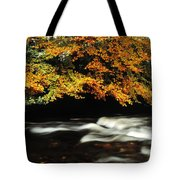 Fast Flowing Water And Fall Colours Tote Bag