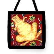 Fat Cat On A Cushion - Orange Cat Tote Bag