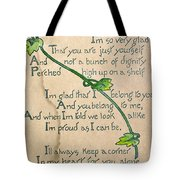 Fathers Day Card, 1912 Tote Bag