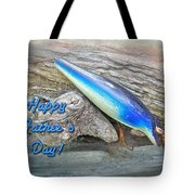 Fathers Day Greeting Card - Vintage Floyd Roman Nike Fishing Lure Tote Bag