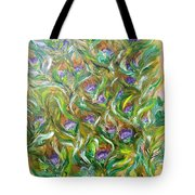 Feather Luster Tote Bag