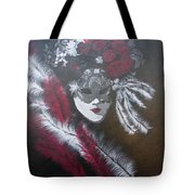 Feathered Rose Tote Bag