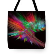 Feathery Bouquet On Black - Abstract Art Tote Bag