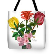 February 2012 Roses And Blooms Tote Bag